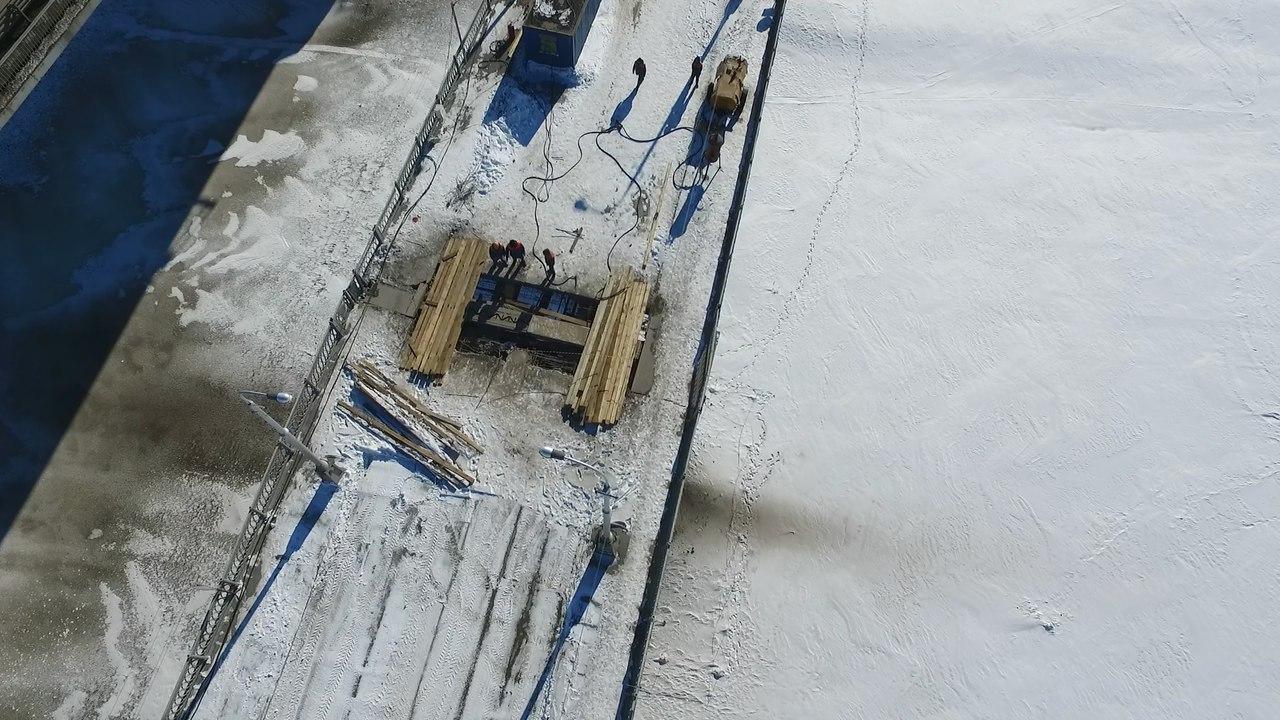 ВУфе продолжается ремонт настаром Бельском мосту